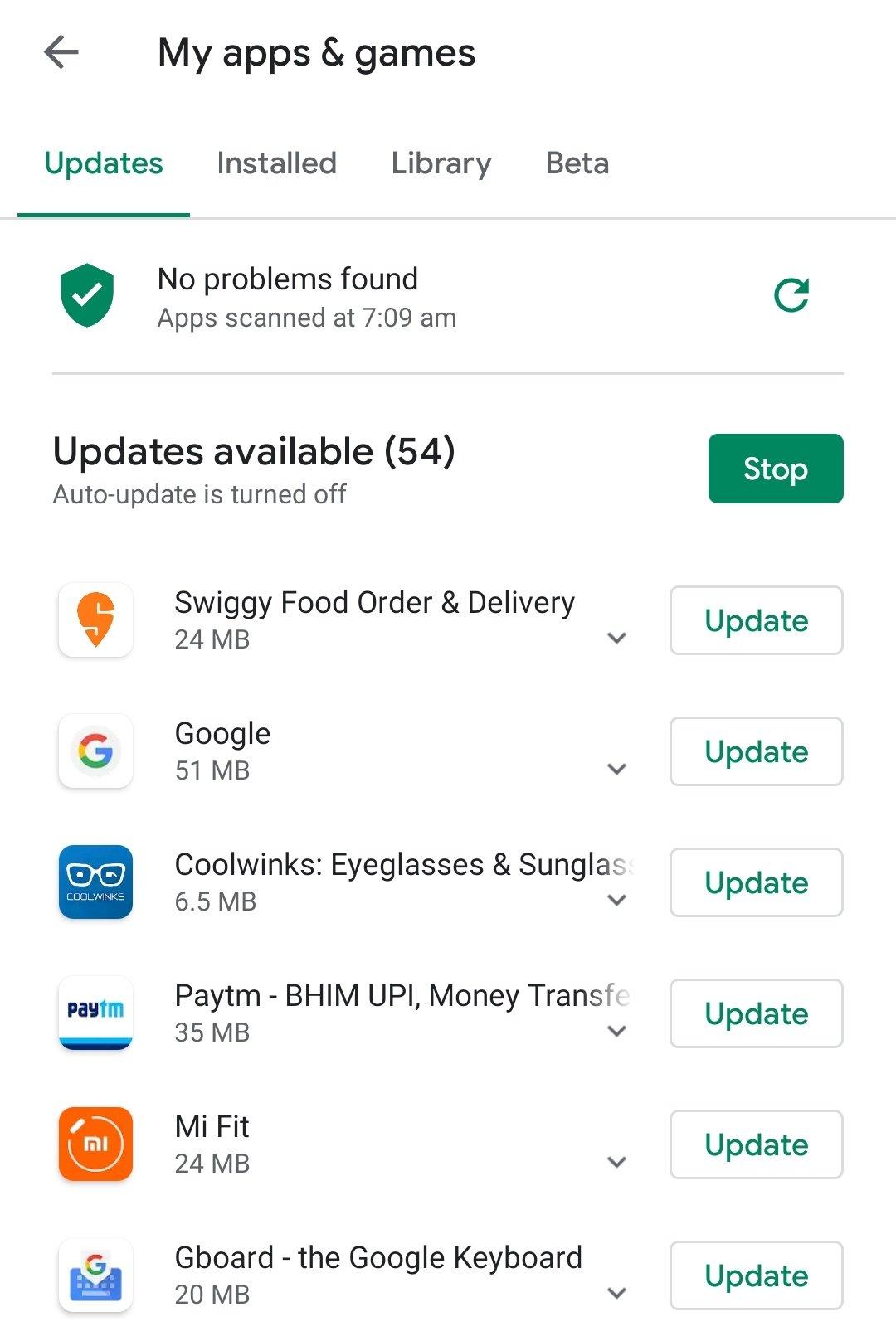 App Updates - Mobile Hanging Problem