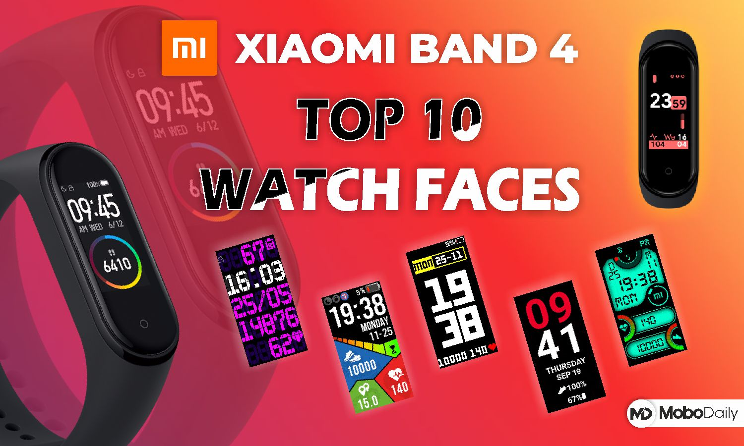 Best Mi Band 4 Watch Faces